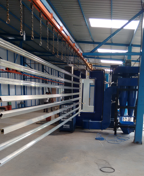 Powder Coating Plant for Aluminium Profiles
